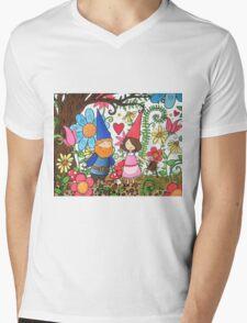 Gnomes in Love Mens V-Neck T-Shirt