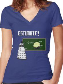 Dalek Pi Math Shirt Women's Fitted V-Neck T-Shirt