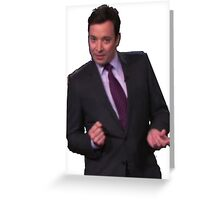 Jimmy Fallon Dancing Greeting Card