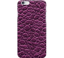 IPHONE CASE CROCODILE LEATHER VIOLET iPhone Case/Skin