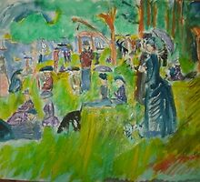 AnOther OReilly ORiginal Painting half pint n mr o a day in the park1.jpg by Timothy C O'Reilly
