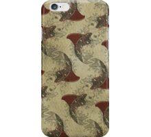shark fin gold fish pattern iPhone Case/Skin
