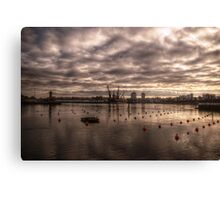 HDR Wearmouth Riverscape Canvas Print
