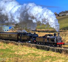 Steam Train Passes Haworth by andyj81