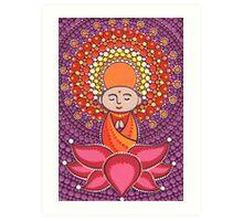 Jizo Meditating upon a Ruby Lotus Art Print