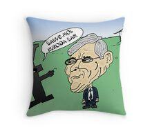 Haruhiko KURODA caricature fiscale japonais Throw Pillow