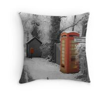 Red Telephone Box,Rougham,Suffolk,UK Throw Pillow