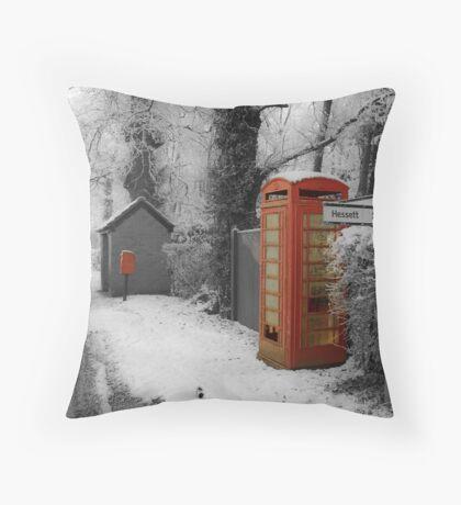 Red Telephone Box,Rougham,Suffolk,UK Throw Pillow