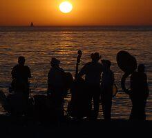 Evening At The Bay Of Banderas - Nochecita En La Bahia De Banderas by Bernhard Matejka