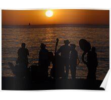 Evening At The Bay Of Banderas - Nochecita En La Bahia De Banderas Poster