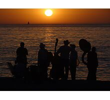 Evening At The Bay Of Banderas - Nochecita En La Bahia De Banderas Photographic Print