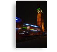 London bus and Big Ben Canvas Print