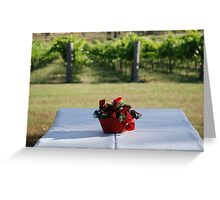 Christmas in the vineyard Greeting Card