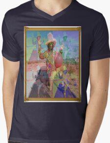 Psychedelic Space Hopper Man Mens V-Neck T-Shirt