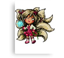 Pixel Dynasty Ahri Canvas Print