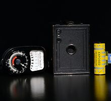 Box Brownie and Weston Master Light Meter  by Nigel Bangert