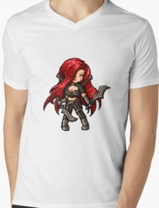 Katarina, The Pixel Blade Mens V-Neck T-Shirt
