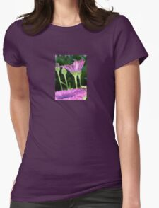 Purple And Pink Daisy Flower in Full Bloom Womens Fitted T-Shirt