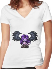 Morgana, The Fallen Pixel Women's Fitted V-Neck T-Shirt
