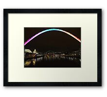 The Bridges at night Framed Print