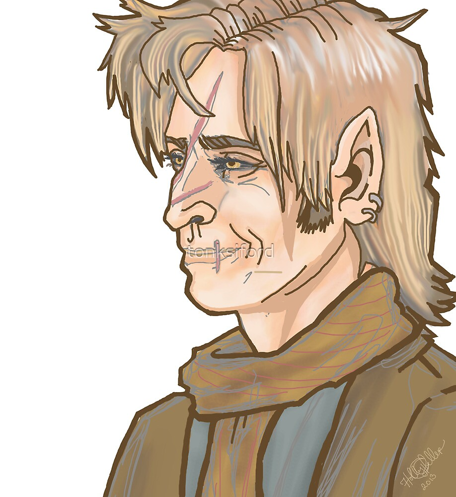 Remus Lupin Portrait by tonksiford