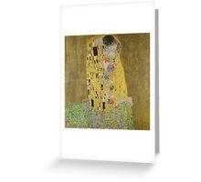 Klimt The Kiss Greeting Card