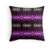 Hot pink with green eyes Throw Pillow