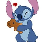 Stitch with toy by LilooCola