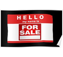 Hello My Name is For Sale  Poster