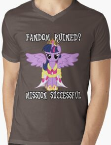 Evil Twilight Sparkle - End of Brony Mens V-Neck T-Shirt