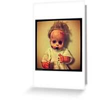 Zombie Doll Greeting Card
