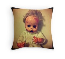 Zombie Doll Throw Pillow