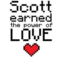 Scott earned the power of love Photographic Print