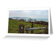 On The Coastal Path- Lyme Regis Greeting Card