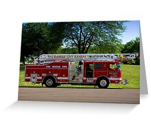 Seagrave 75ft Meanstick Ladder Fire Truck Greeting Card