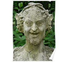 Smiling Statue Poster