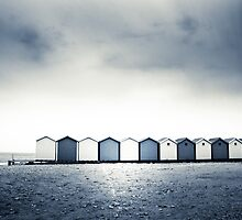 Charmouth Beach Huts by Dorit