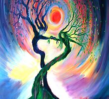 Dancing tree spirits by annie b. by anniebart