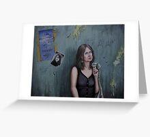 The pilgrimage of Mrs.C.van der Vossen-Brinks Greeting Card
