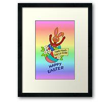 HAPPY EASTER 01 Framed Print