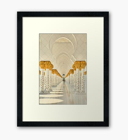 Tranquility of the Colonnade Framed Print