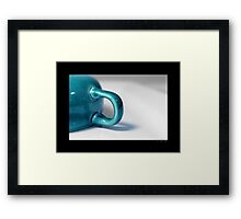 Ceramic Turquoise Teacup Detail Framed Print