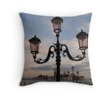 Lamppost, St Mark's Sqaure Throw Pillow