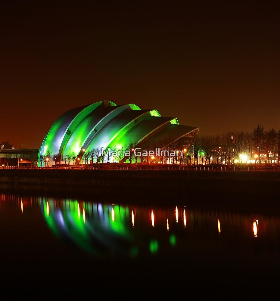 Glasgow Armadillo in Green Light by Maria Gaellman