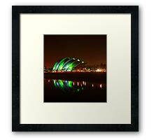 Glasgow Armadillo in Green Light Framed Print