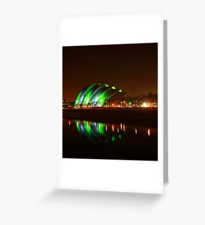 Glasgow Armadillo in Green Light Greeting Card