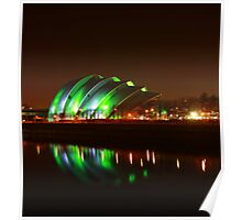 Glasgow Armadillo in Green Light Poster