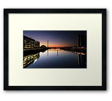 Pacific Quay, River Clyde, Glasgow at Night Framed Print