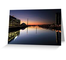 Pacific Quay, River Clyde, Glasgow at Night Greeting Card
