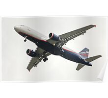 airliner A320 in flight Poster